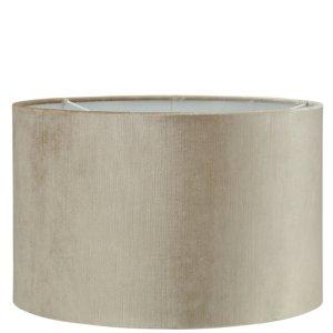 Lampenkap beige velvet cilinder TVE03