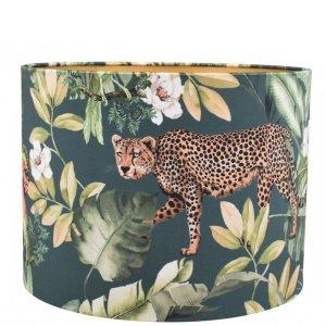 Lampenkap jungle luipaard velvet cilinder TBRV12