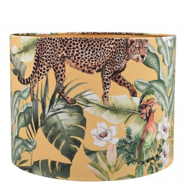 Lampenkap jungle luipaard velvet cilinder TBRV09