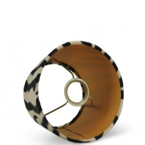 Lampenkap zebra velvet halfhoog TSV16G detail