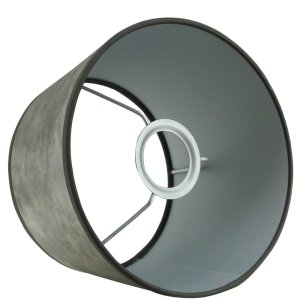 Lampenkap zilver halfhoog TPL05 detail