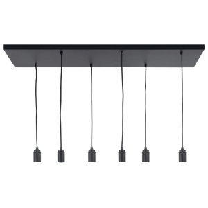 Pendel hanglamp zwart Fantasy 6 lichts