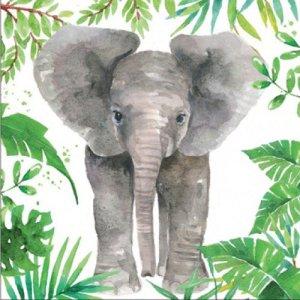 Servetten tropical olifant 33x33