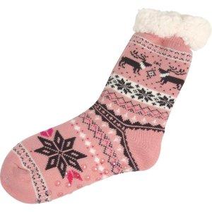 Huissokken roze sneeuwvlok 36-41