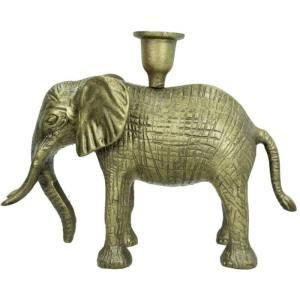 Kandelaar brons olifant 19cm