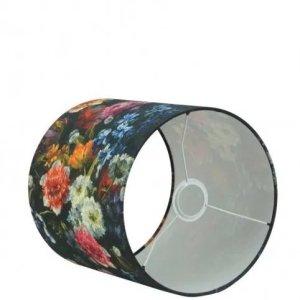 Lampenkap bloemenprint katoen 40x25 detail