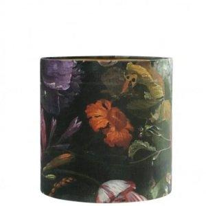 Lampenkap bloemenprint velvet 30x25