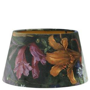 Lampenkap bloemenprint velvet 55x28