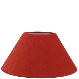Lampenkap rood katoen schuin TLI0030