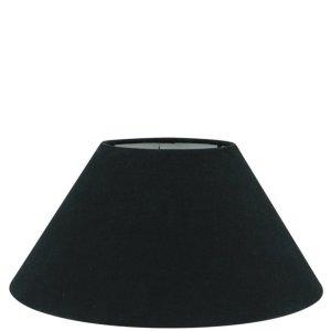 Lampenkap zwart katoen schuin TLI0652