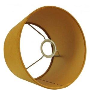 Lampenkap geel velvet 20x12 detail
