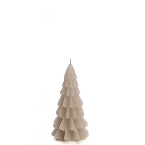 Kerstboom kaars linnen 6x12cm