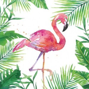 Servetten tropical flamingo 33x33