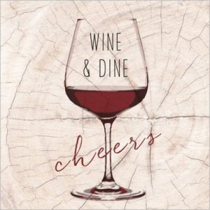 servetten wine en dine red 33x33