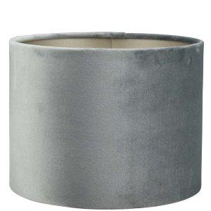Lampenkap grijs velours cilinder TAC63