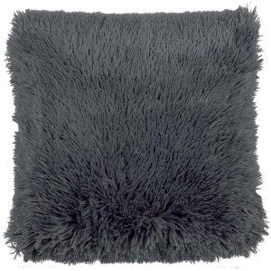 Sierkussen donkergrijs fluffy 45x45