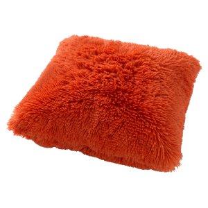 Sierkussen oranje coral fluffy 45x45 detail