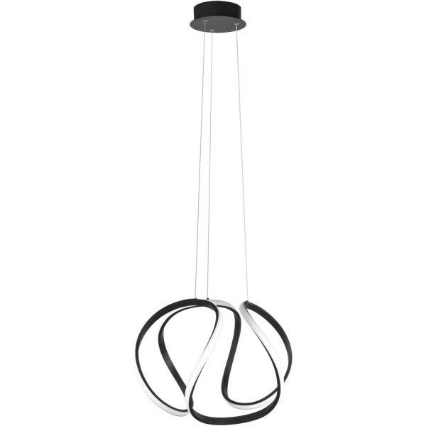 Hanglamp zwart Kyra 53cm