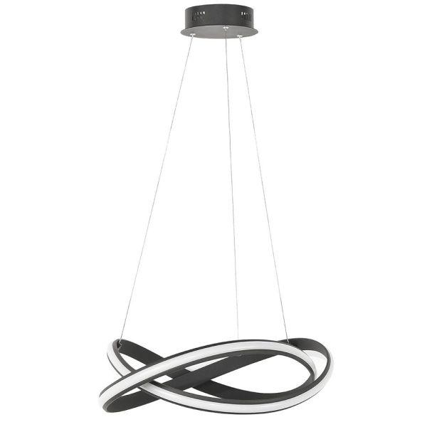 Hanglamp zwart Waves 70cm