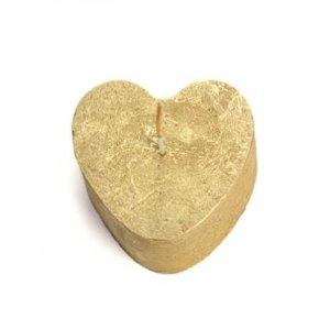 Figuurkaars hartje goud 8cm