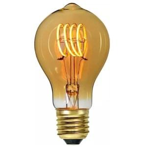 Lichtbron LED Standaard spiraal amber 4W dimbaar