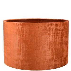 Lampenkap oranje velours cilinder TON05