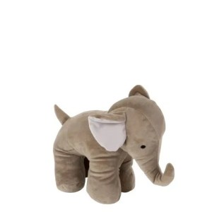 Deco knuffel olifant grijs 24cm