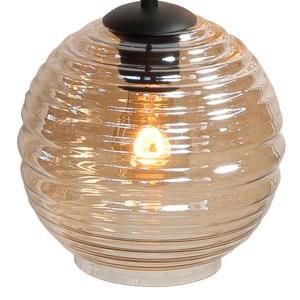Lampenkap glas amber Globe 20cm
