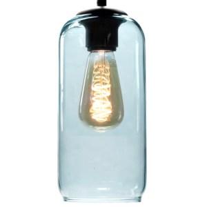 Lampenkap glas blauw Jack 12cm