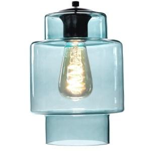 Lampenkap glas blauw Moderno 16cm