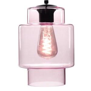 Lampenkap glas roze Moderno 16cm
