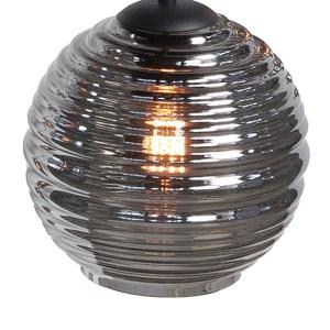 Lampenkap glas smoke Globe 20cm