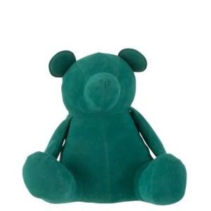 deco beer groen fluweel 23cm