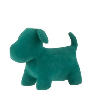 deco hond groen fluweel 20cm
