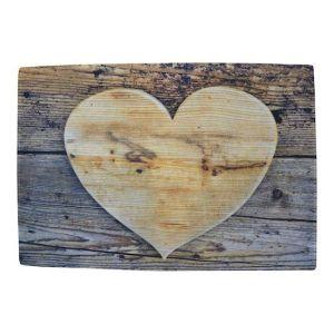 Deurmat hart hout bruin