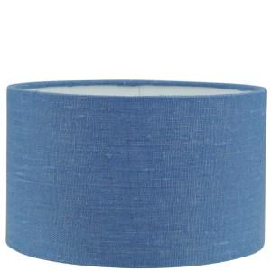 Lampenkap blauw Linnen cilinder 25x25x30cm