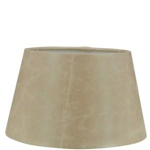 Lampenkap bruin suede look halfhoog 18x14x12cm