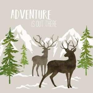 Servetten Adventure bruin 33x33