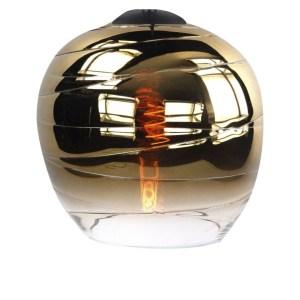 Lampenkap glas goud Apple 22cm