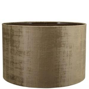 Lampenkap brons velours cilinder