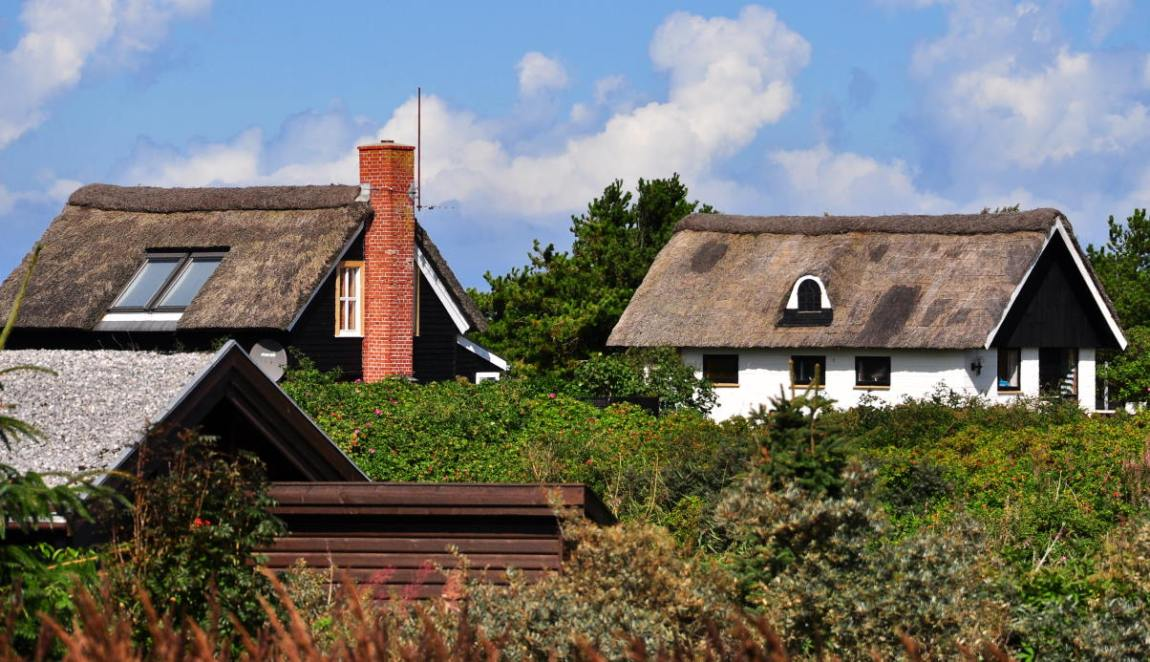 typisch dänisches Ferienhaus in Dänemark