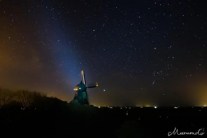 Dänemark Mühle Nacht