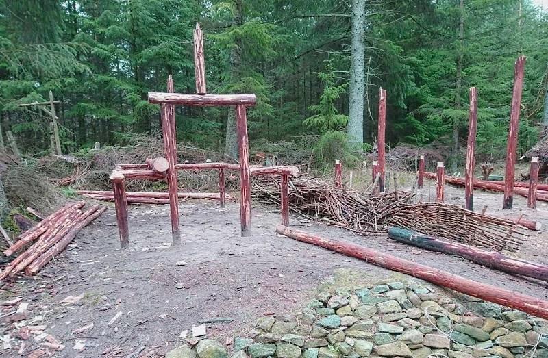 Wikinger Dorf Dänemark Baukunst