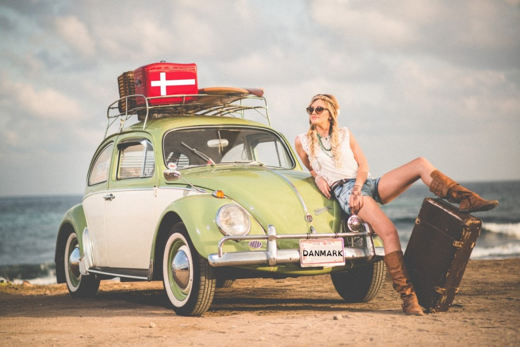 Dänemark Auto am Strand