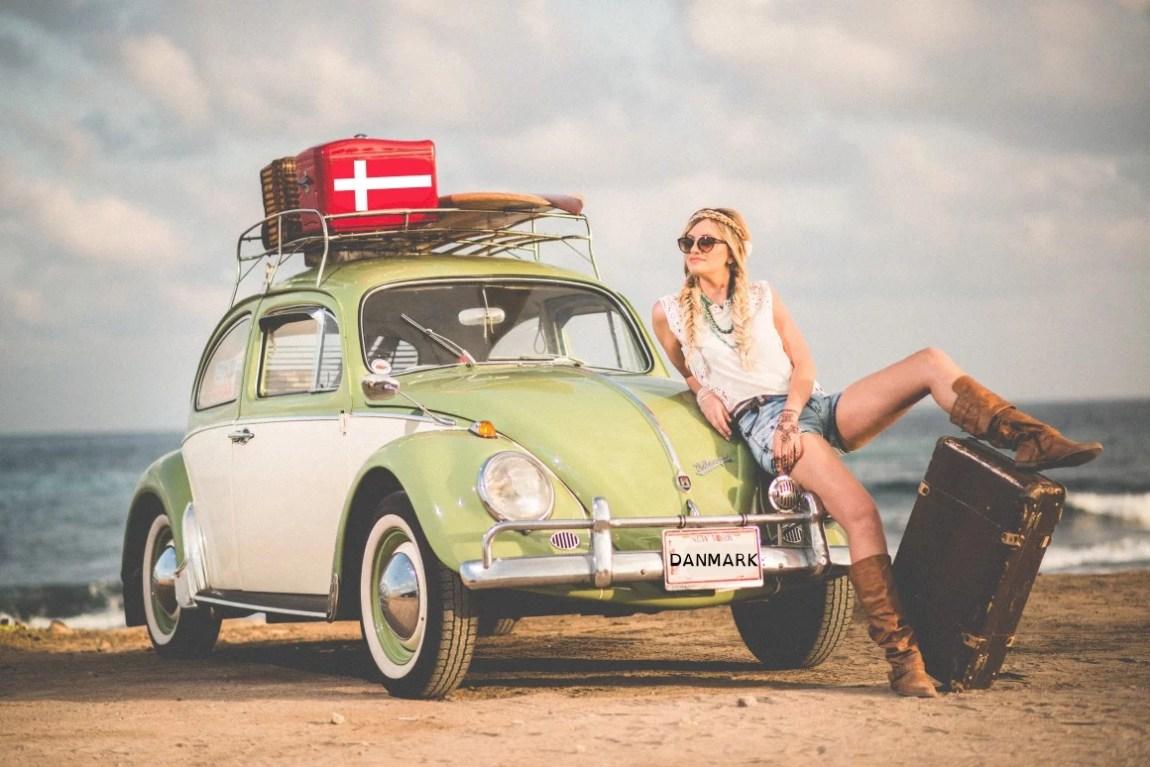 Auswandern Dänemark Meer Strand Auto