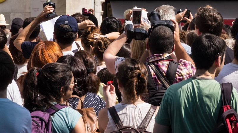 Touristen Massentourismus