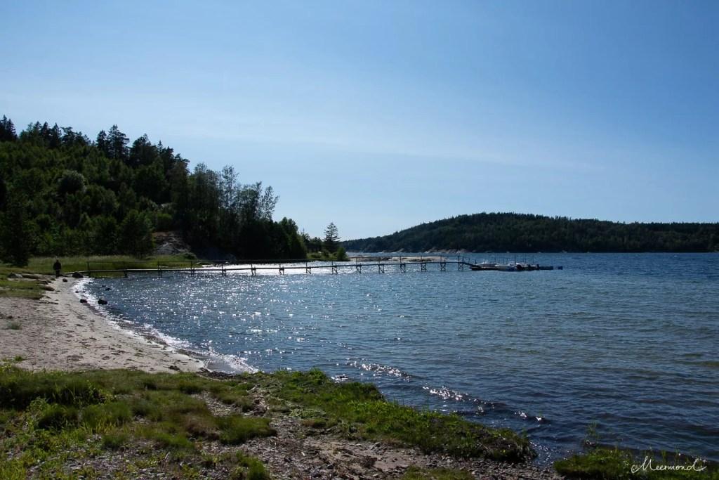 Viken Badplats Schweden Meer