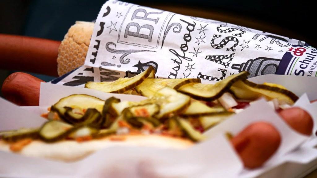 Ristet Hotdog im Dänemark Urlaub