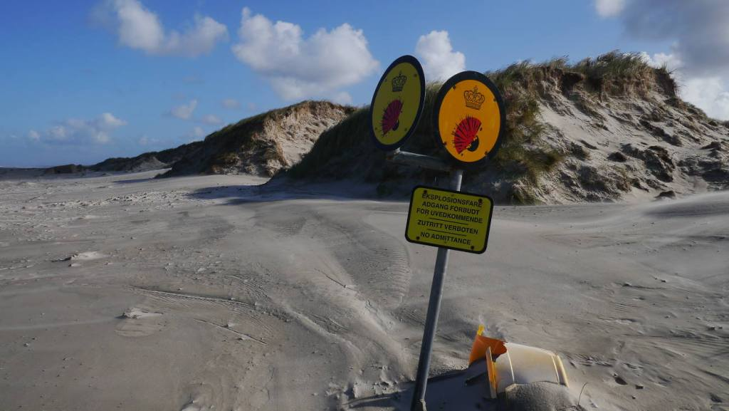 Warnschilder Blåvand Strand