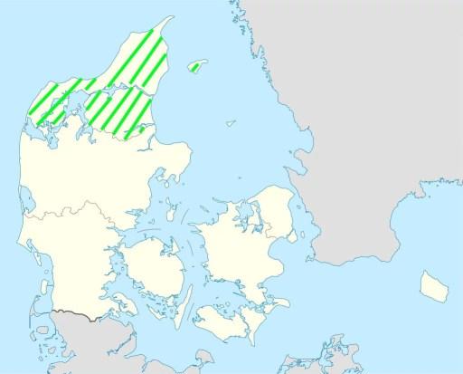 Karte Urlaubsregion Nordjütland